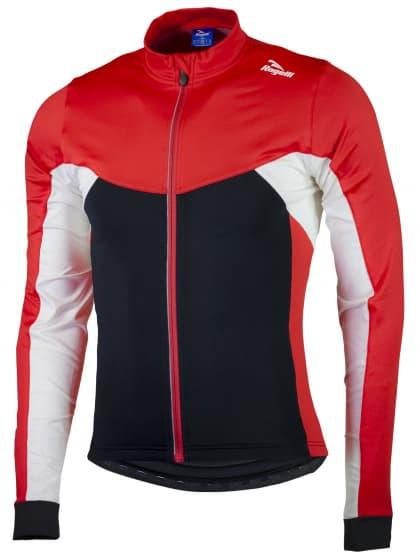 Hrejivý cyklistický dres Rogelli RECCO 2.0 s dlhým rukávom, čierno-červený