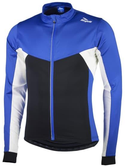 Hrejivý cyklistický dres Rogelli RECCO 2.0 s dlhým rukávom, modrý