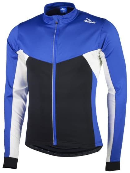 Hrejivý detský cyklistický dres Rogelli RECCO 2.0 s dlhým rukávom, modrý