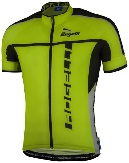 Ultraľahký cyklistický dres Rogelli UMBRIA 2.0 s krátkym rukávom, reflexný žltý