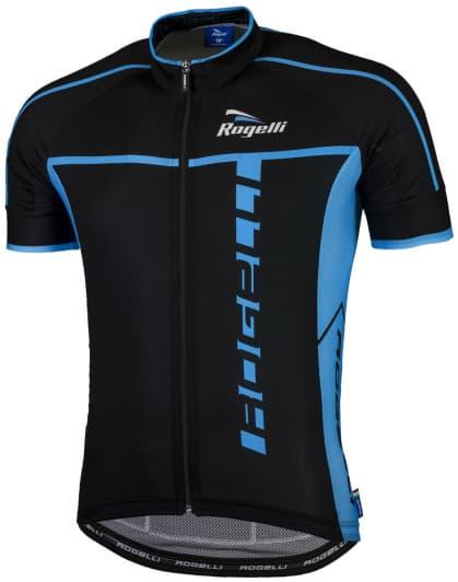 Ultraľahký cyklistický dres Rogelli UMBRIA 2.0 s krátkym rukávom, čierno-modrý