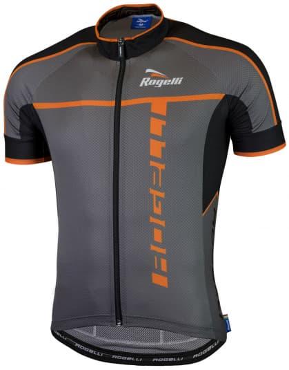 Ultraľahký cyklistický dres Rogelli UMBRIA 2.0 s krátkym rukávom, šedo-oranžový