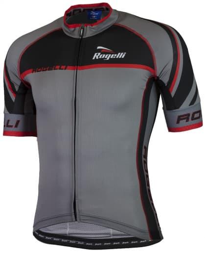 Ultraľahký cyklodres Rogelli ANDRANO 2.0 s krátkym rukávom, šedo-červený
