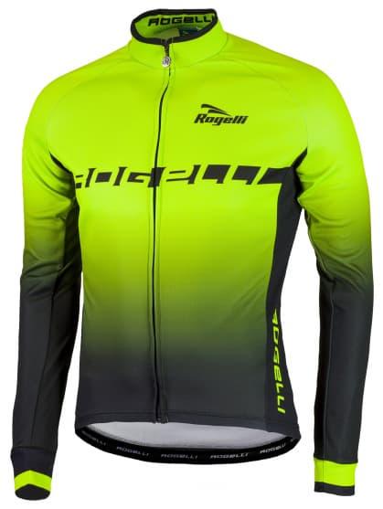 Hrejivý cyklistický dres ISPIRATO s dlhým rukávom, reflexný zelený