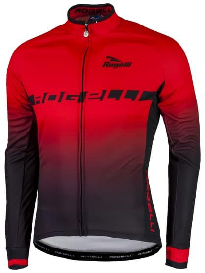 Hrejivý cyklistický dres ISPIRATO s dlhým rukávom, červený