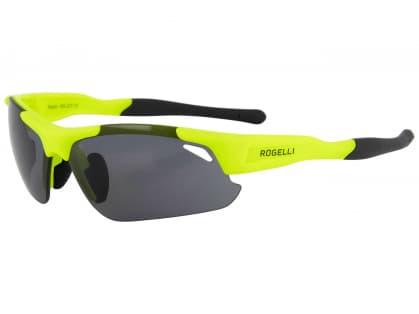 Cyklistické športové okuliare Rogelli RAPTOR s výmennými sklami, reflexné žlté