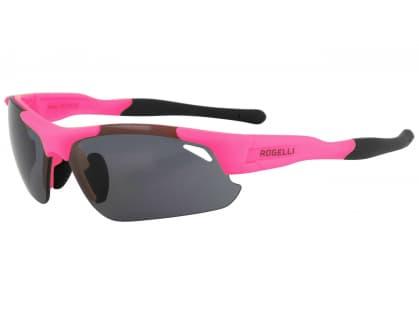 Cyklistické športové okuliare Rogelli RAPTOR s výmennými sklami, ružové