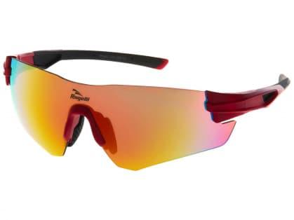 Športové okuliare Rogelli WRIGHT s výmennými sklami, červené