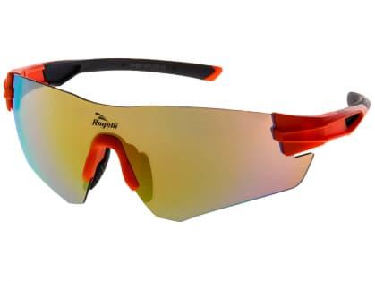 Športové okuliare Rogelli WRIGHT s výmennými sklami, oranžové