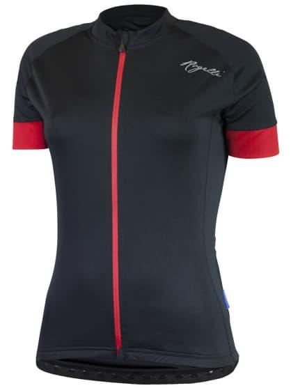Dámsky cyklistický dres Rogelli MODESTA s krátkym rukávom, čierno-červený