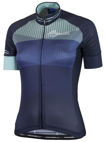 Ultraľahký dámsky cyklodres Rogelli STELLE s krátkym rukávom, modrý