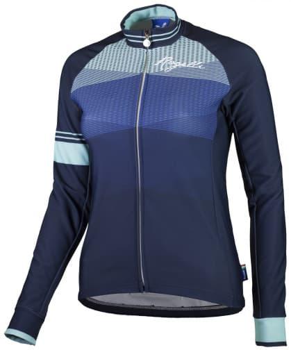 Hrejivý dámsky cyklodres Rogelli STELLE s dlhým rukávom, modrý