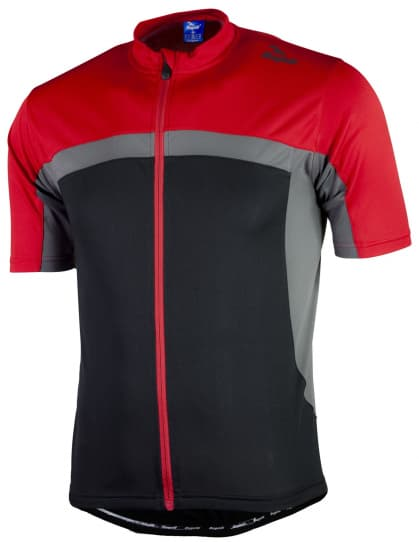 Cyklistický dres Rogelli MANTUA 2.0 s krátkym rukávom, čierno-červený