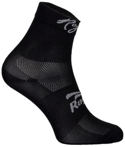 Dámske antibakteriálne funkčné ponožky Rogelli Q-SKIN s bezšvovou pätou, čierne