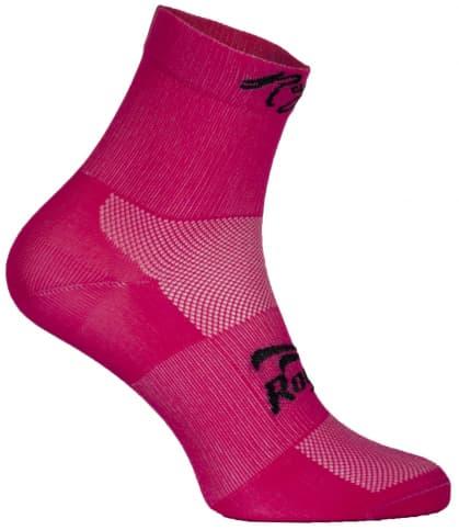 Dámske antibakteriálne funkčné ponožky Rogelli Q-SKIN s bezšvovou pätou, ružové