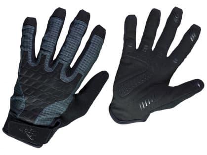 Ultraľahké cyklistické MTB rukavice Rogelli ADVENTURE, čierno-šedé